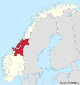 Trondelag Midt Norge Kart Veikart Over Norge