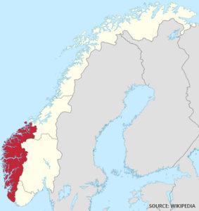 Vestlandet Vest Norge Kart Veikart Over Norge